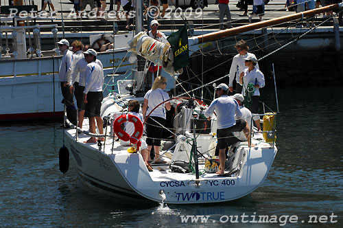 Andrew Saies' Beneteau First 40 Two True in Hobart's Constitution Dock after ...