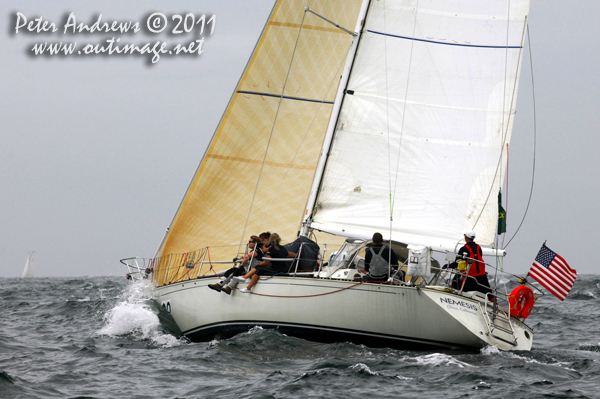 Jeffrey Taylor's C&C 41 Nemesis (USA), heading out into the Tasman sea from