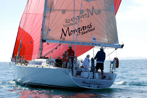 Rick Morgan's custom design Dream Lover after the start of the Club Marine ...